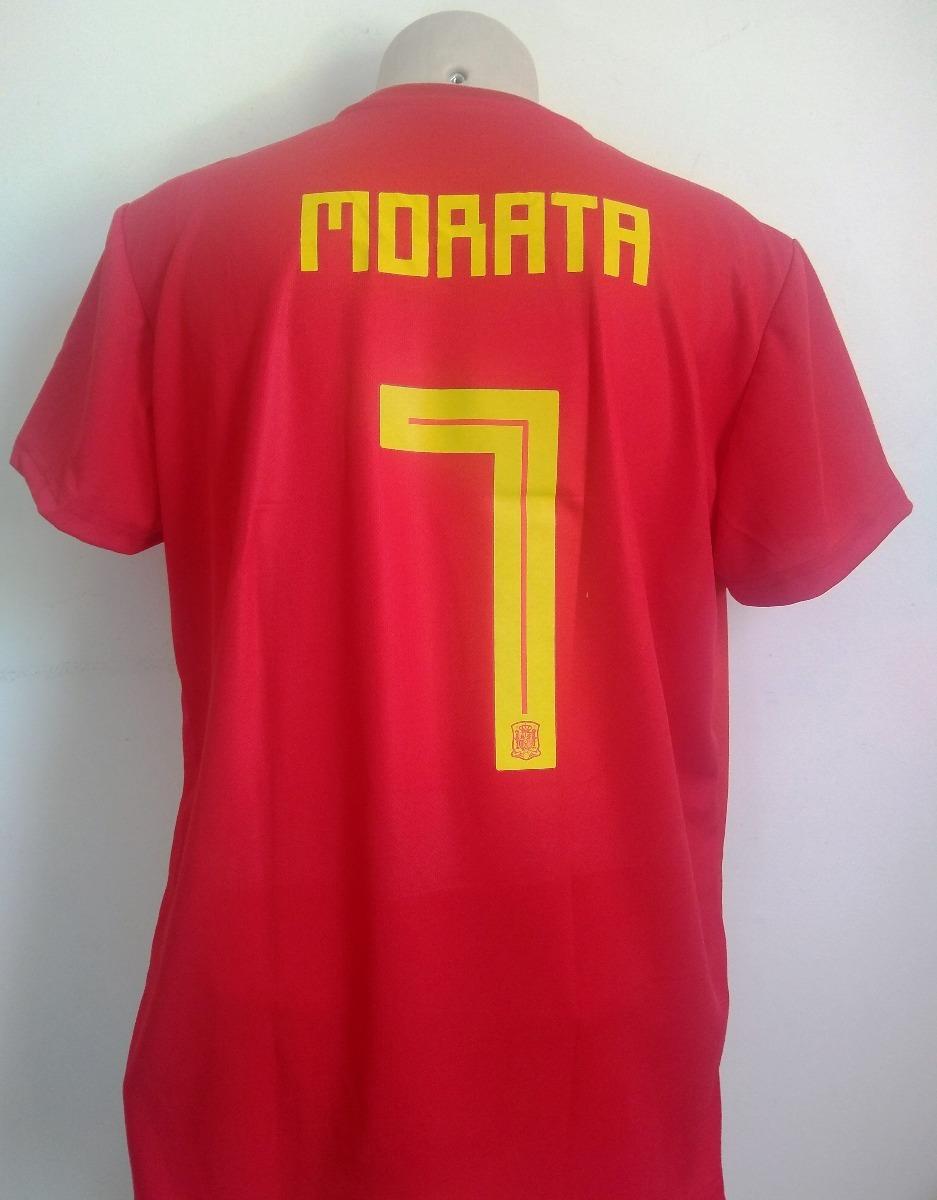 1a30966246 Camisa Seleção Espanha Home 2018 19 - Morata 7 - R  95