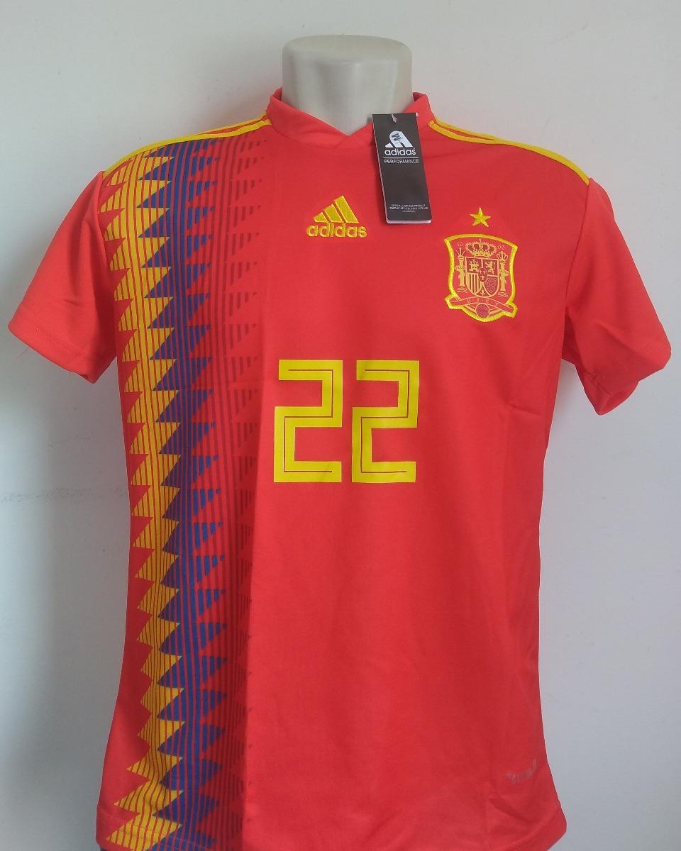 67d74dbab5 Camisa Seleção Espanha Home 2018 19 - Número 22 - R  95
