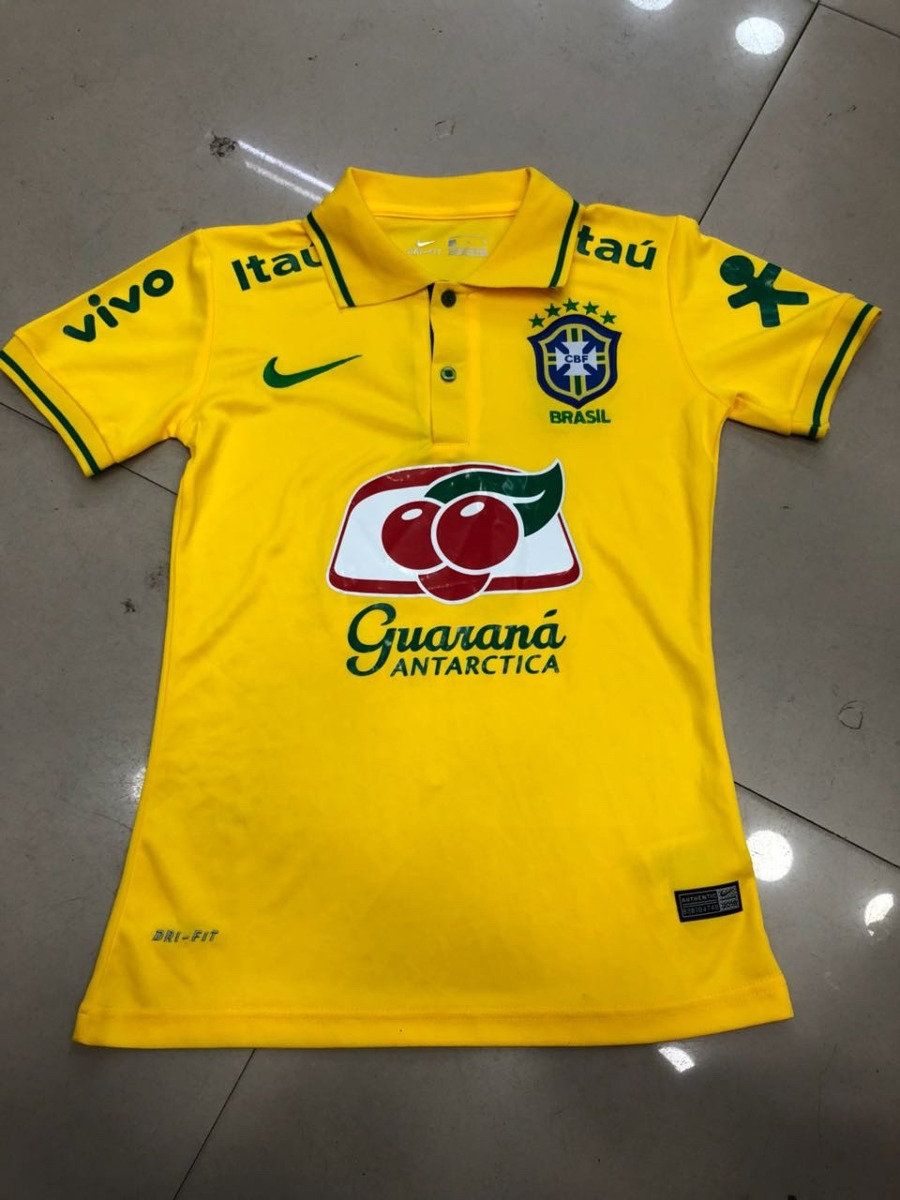 9321ea3ec9 Nova Camisa Polo Seleção Brasileira Amarela Feminina 2018 !! - R  79 ...
