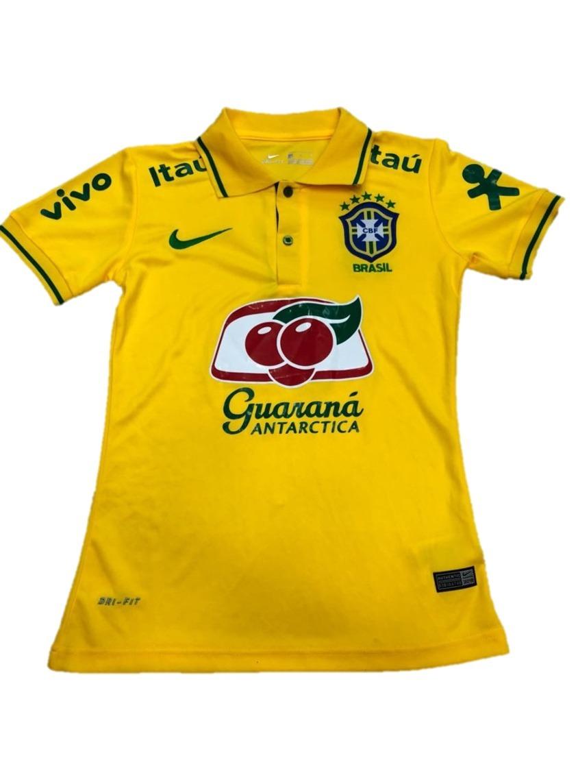 6d257e8501 Nova Camisa Polo Seleção Brasileira Amarela Feminina 2018 !! - R  59 ...
