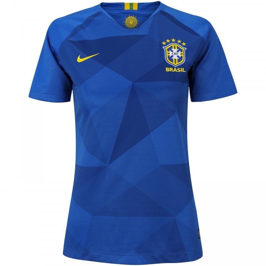Camisa Da Seleção Brasileira Feminina Brasil Azul Baby Look - R  99 ... fbdf4b2b421a7