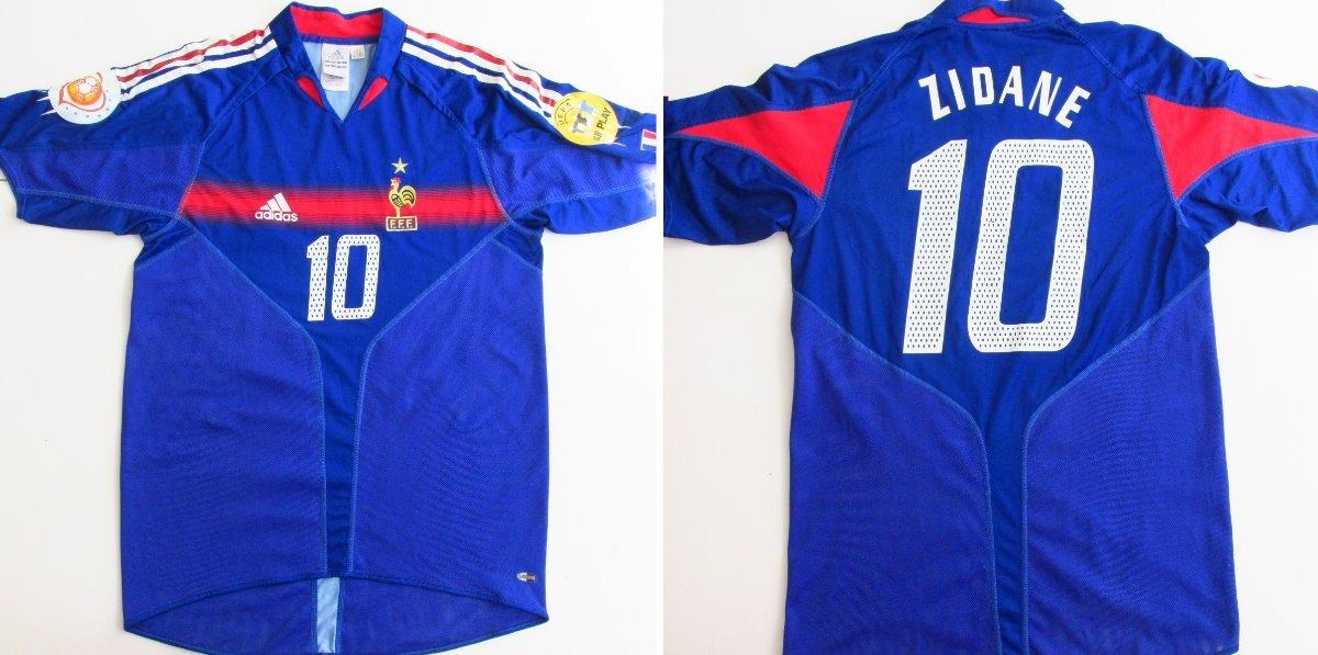 a604f74b06 camisa seleção frança zidane  10 euro 2004 oficial adidas. Carregando zoom.