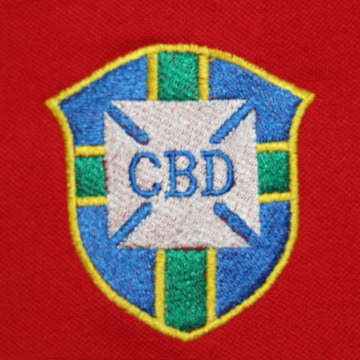 Camisa Seleção Brasileira Vermelha Esquerda Retrô Masculina - R  59 ... 10409b7130ae0