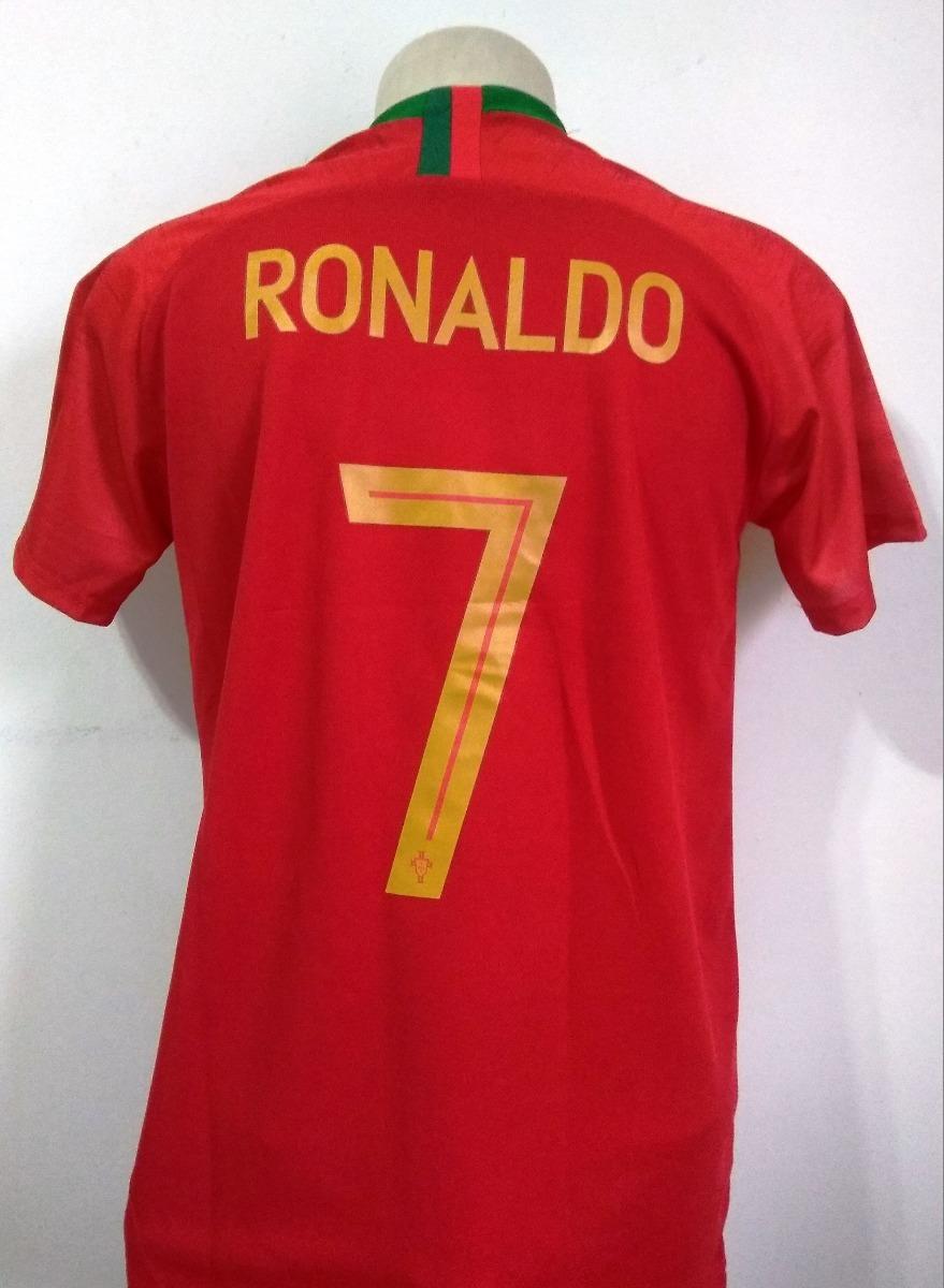 ... camisa seleção portugal home 2018 19 - cristiano ronaldo 7. Carregando  zoom... Camisa Oficial ... ae0696ad879db