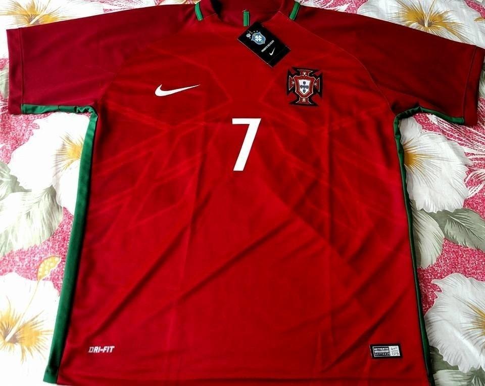 camisa seleção portugal vermelha cristiano ronaldo 7 euro 16. Carregando  zoom. f1a63a01a121c