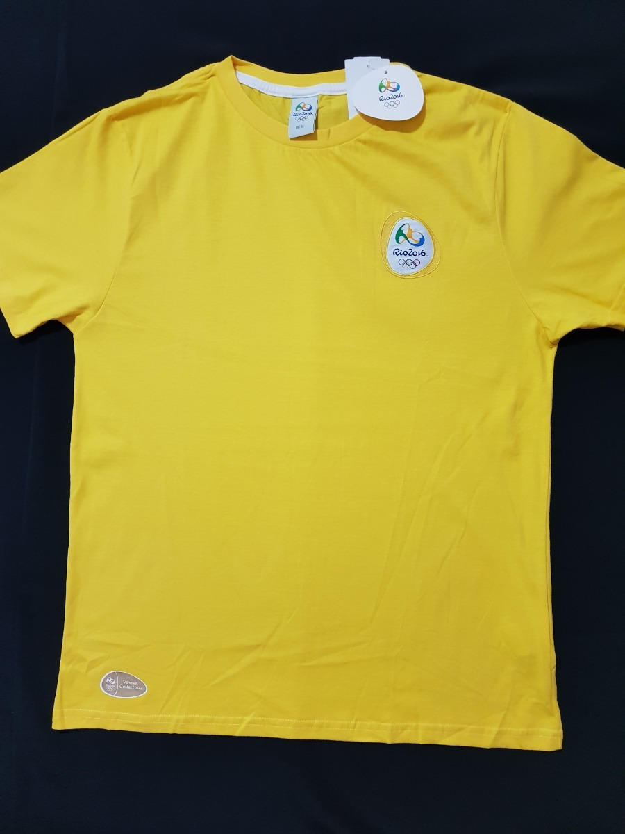 Camisa Seleção Time Brasil Olimpiadas Rio 2016 Logomarca Bra - R  49 ... 2dab24ae396da