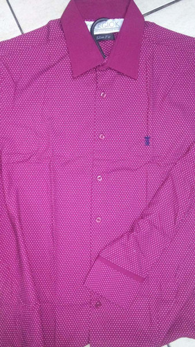 camisa sergio k original masculina slim fit lançamento pink