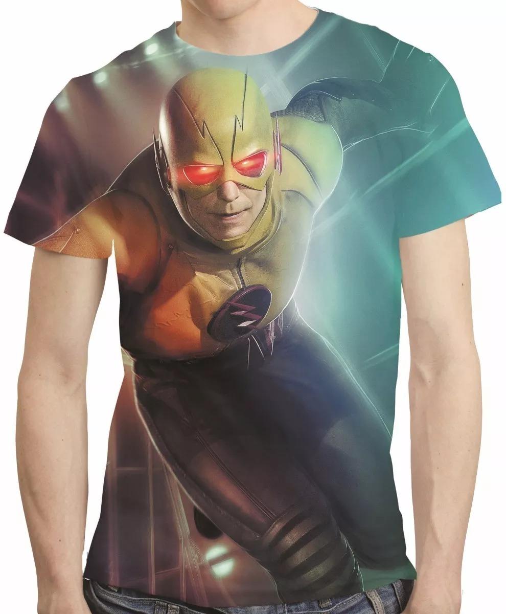 fb36b475eb camisa série flash camiseta flash reverso - estampa tota. Carregando zoom.