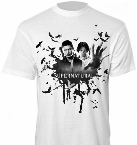 camisa serie- sobrenatural (supernatural)