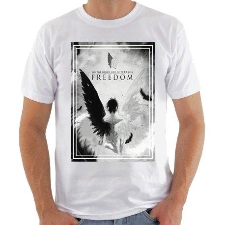 eb1b61424 Camisa Shingeki No Kyojin Asas Da Liberdade - R  32