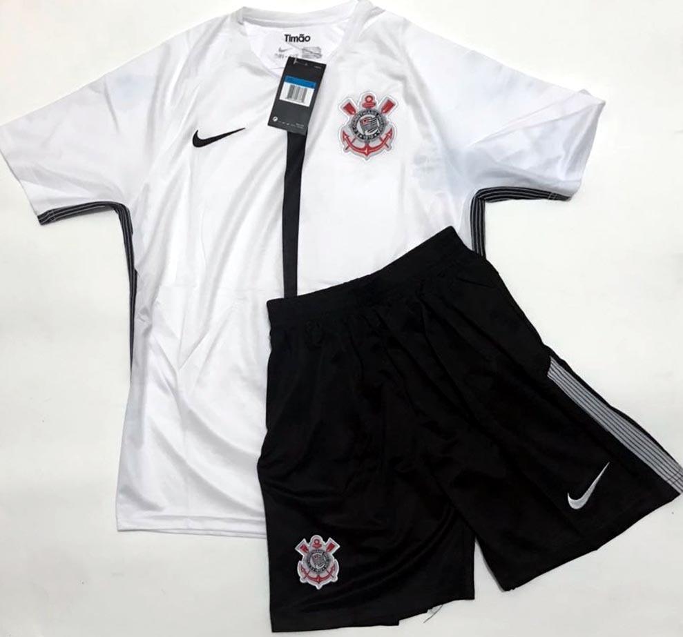 e81ed25137 camisa + shorts infantil corinthians timão 2017-18 s/n. Carregando zoom.