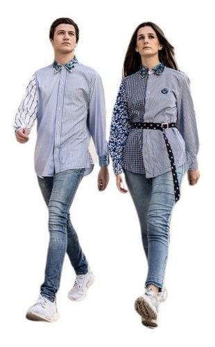 camisa silvi, manga larga , sustentable reinventando
