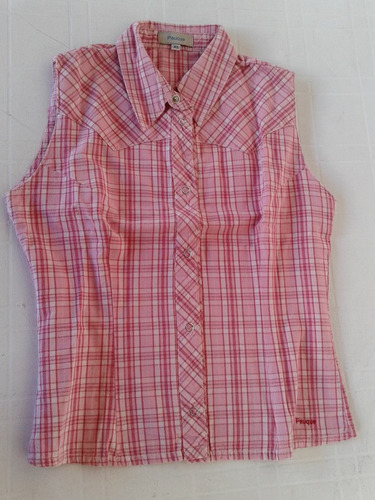 camisa sin mangas peuque, talle xs