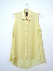 7d7df6e84d12 Camisa Sin Mangas Seda Gasa De Vestir Mujer Talle S M L
