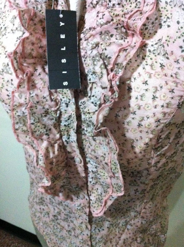 camisa sisley para damas 100% original