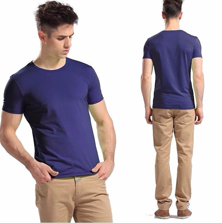 b44f9ae14c Camisa Slim Fit - Camiseta Básica Lisa - Masculina - R  28