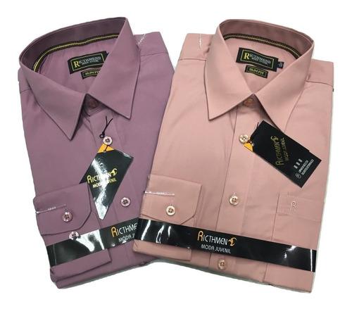 camisa slim fit entallada lisa