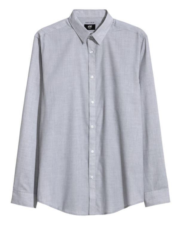25927e13acaa0 Camisa Slim Fit Hombre H m Casual Camisas Caballero Gris -   180.00 ...