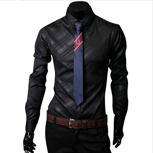 3bdc5430d24a9 Camisa Slim Fit Hombre Manga Larga Promocion -   72.000 en Mercado Libre