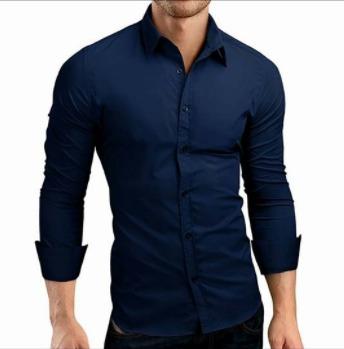 Camisa de los hombres 2017 Nueva Moda Slim Fit Camisa Para