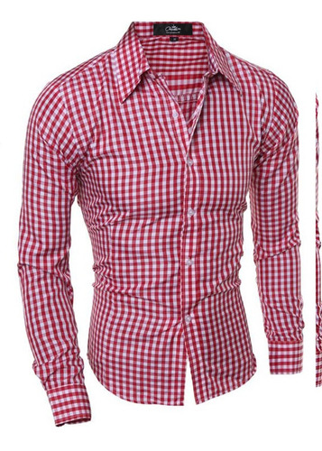 camisa slim fit lcc61 red la chaqueteria