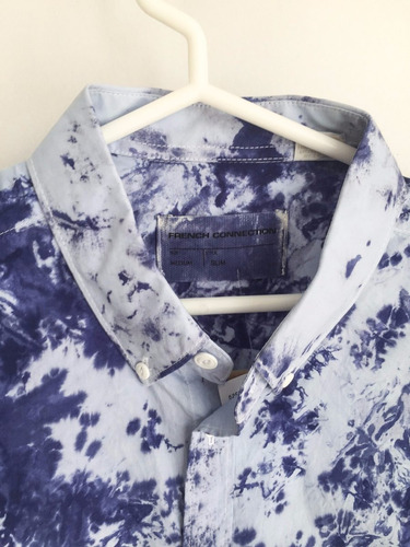 camisa slim fit manga corta french connection