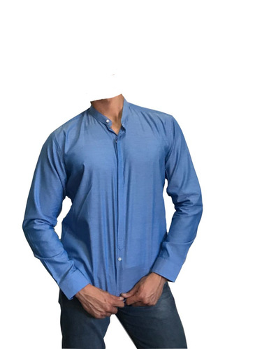 camisa slim fit mao indigo - peaceful