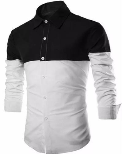 camisa slim fit masculina lançamento 2017 modelo t o p moda