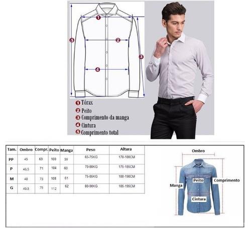 camisa slim fit masculina social a pronta entrega