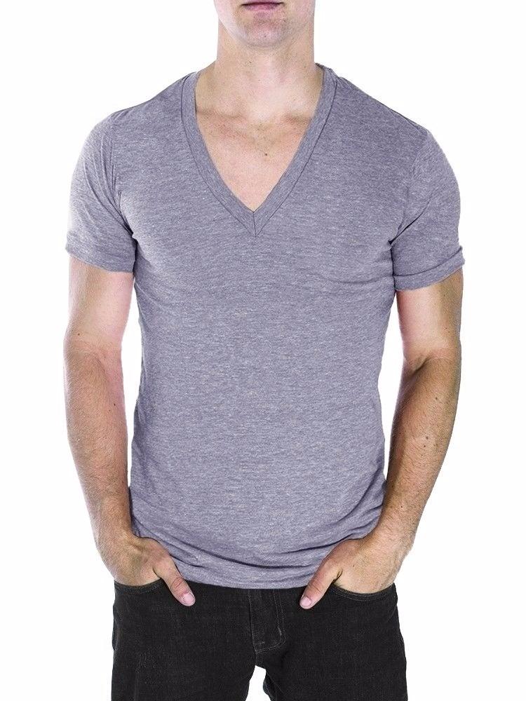 9034d66cfb camisa slim gola v funda masculina viscolycra. Carregando zoom.