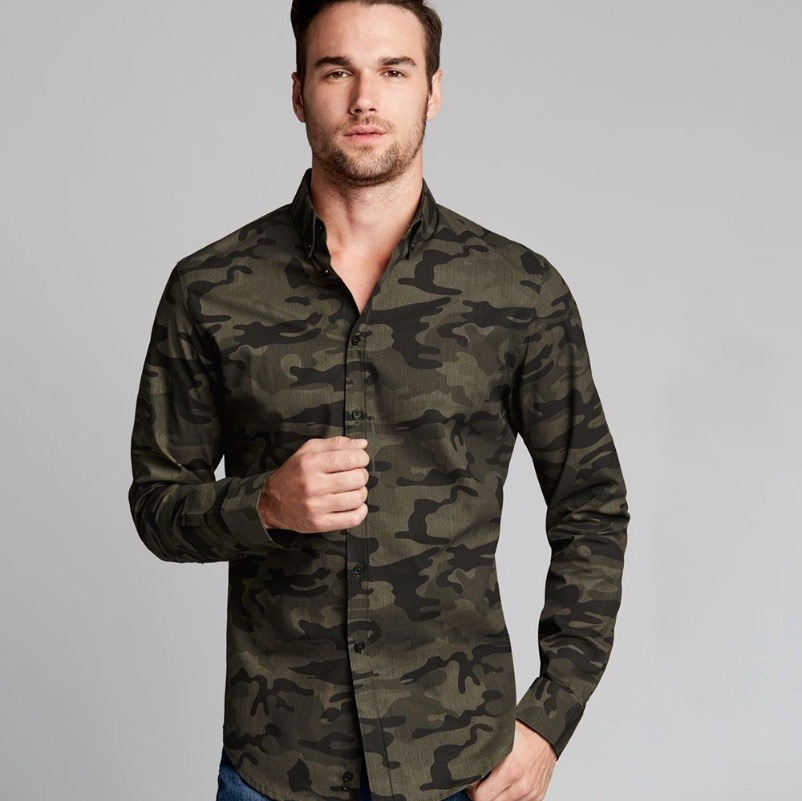Camisa Slimfit Casual Hombre Tipo Militar -   550.00 en Mercado Libre fb43e8a2b62
