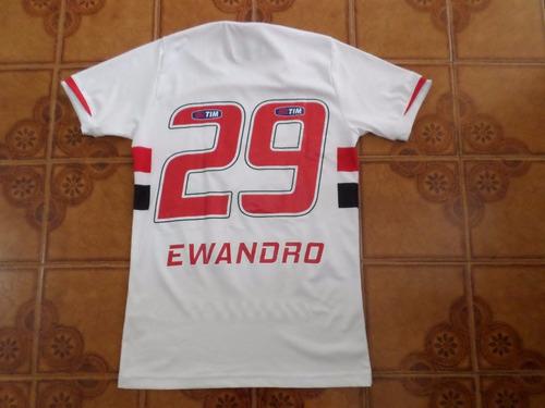 camisa  são  paulo  branca  jogo  29  ewandro    tamanho   p