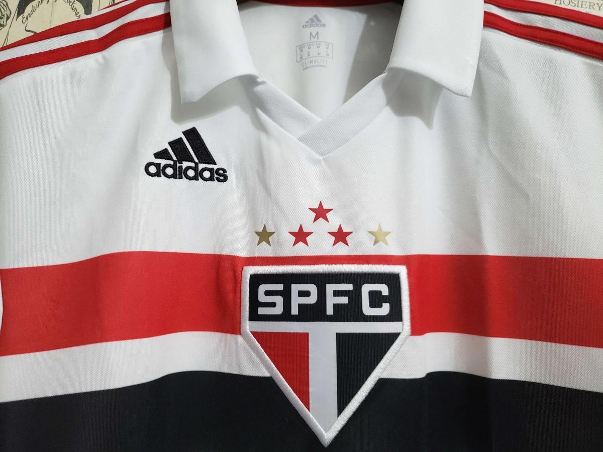2e3012ff7c733 Camisa São Paulo Branca Torcedor Adulto 2018 Original S n° - R  150 ...