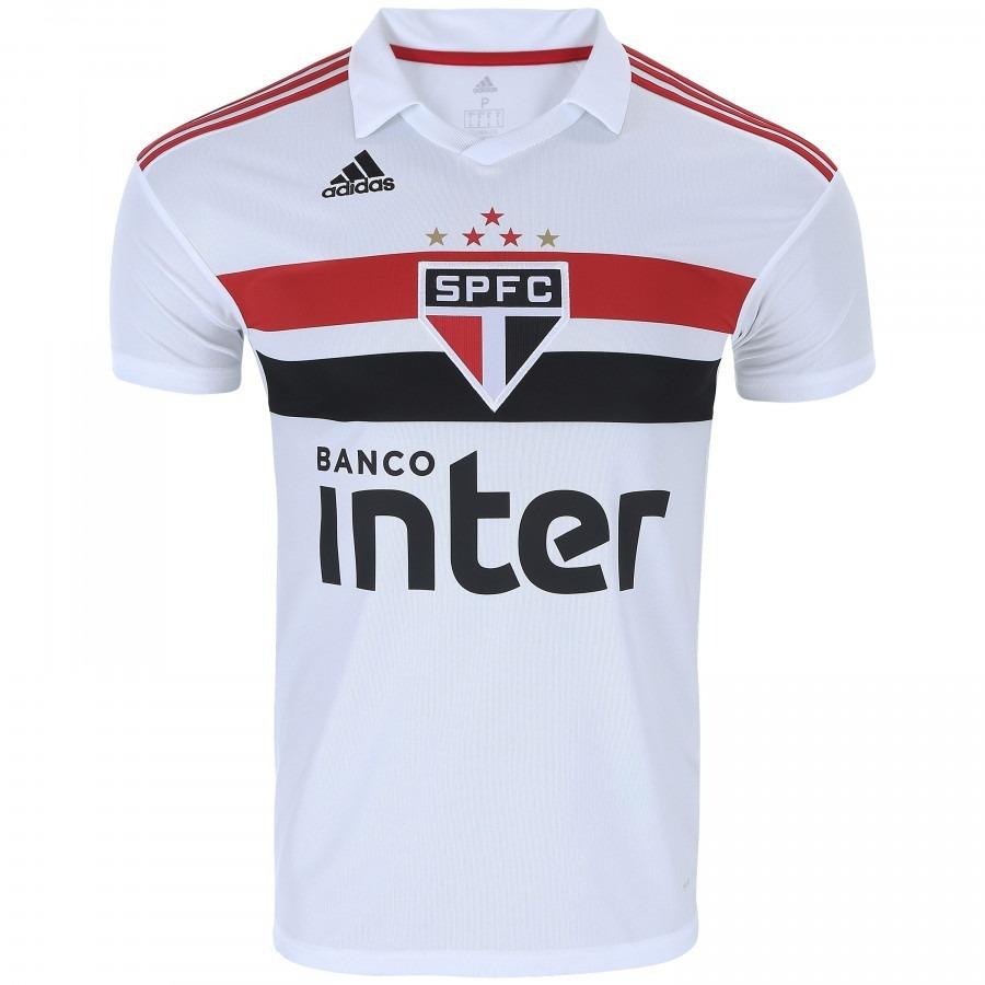f5dde538124eb Camisa São Paulo Branca Torcedor Adulto 2018 Original S n° - R  150 ...