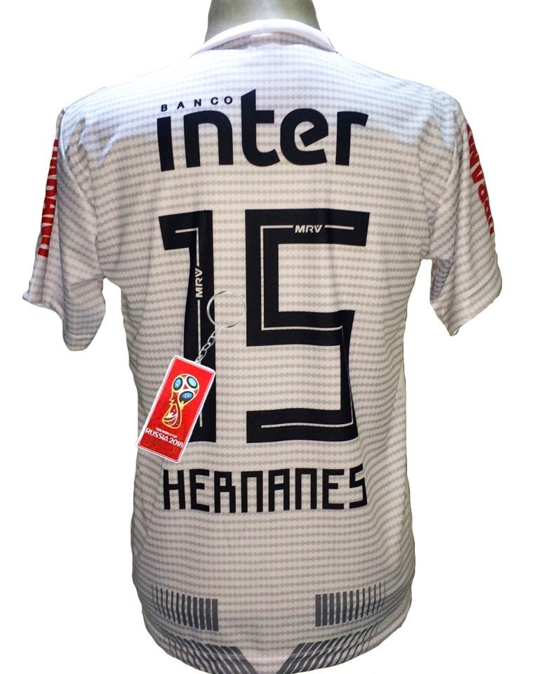 Camisa São Paulo Hernanes Branca Nova 2019 - R  29 2de48a865bb80