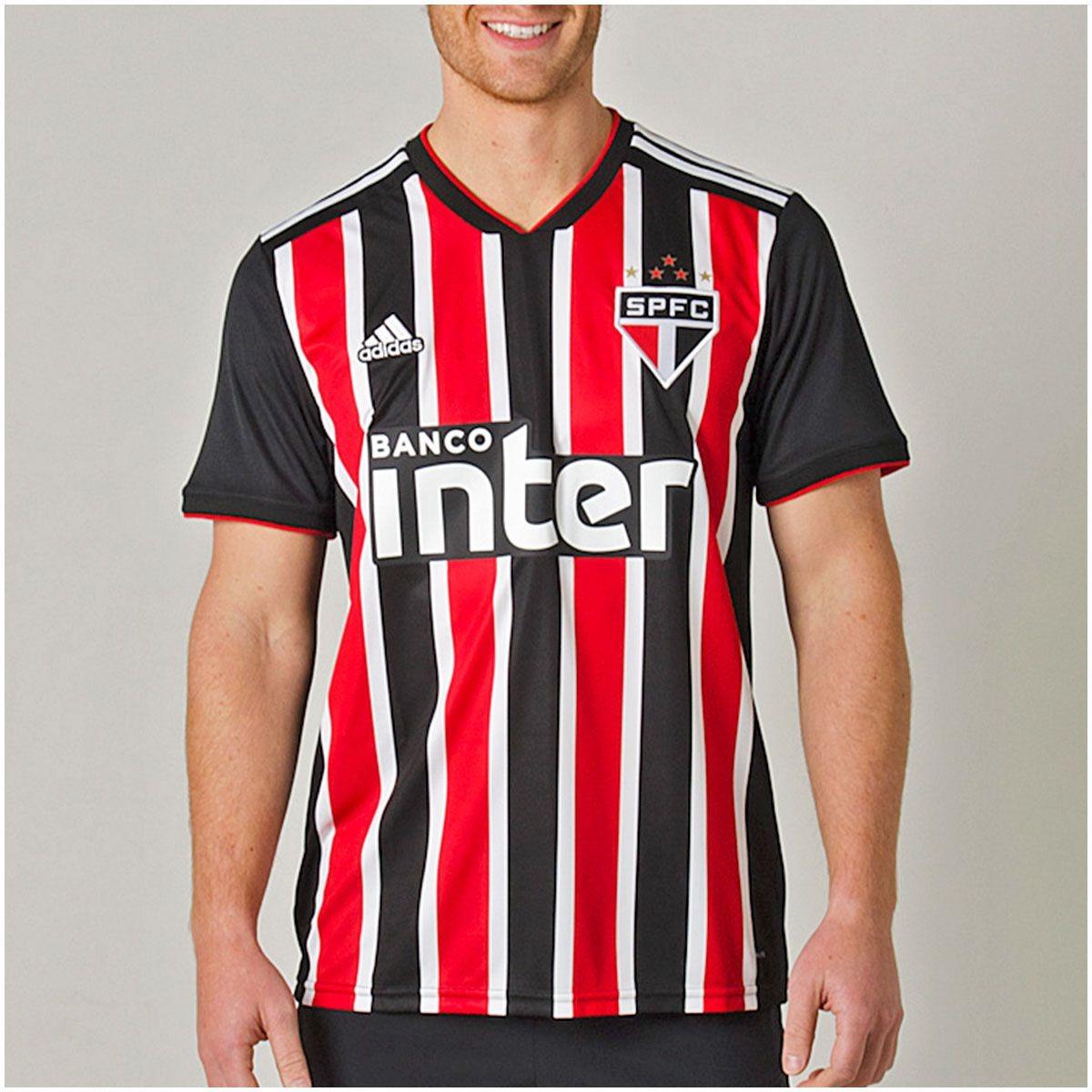0e4a49138df Camisa São Paulo Ii 2018 Masculina - R$ 199,90 em Mercado Livre