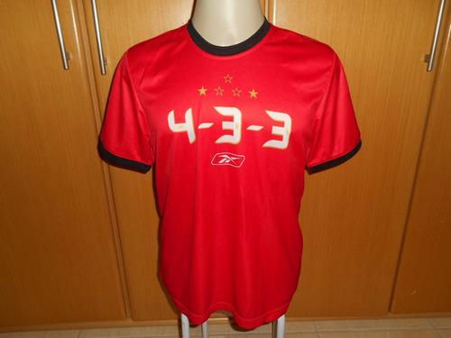 camisa são paulo reebok 4 3 3   tamanho g.
