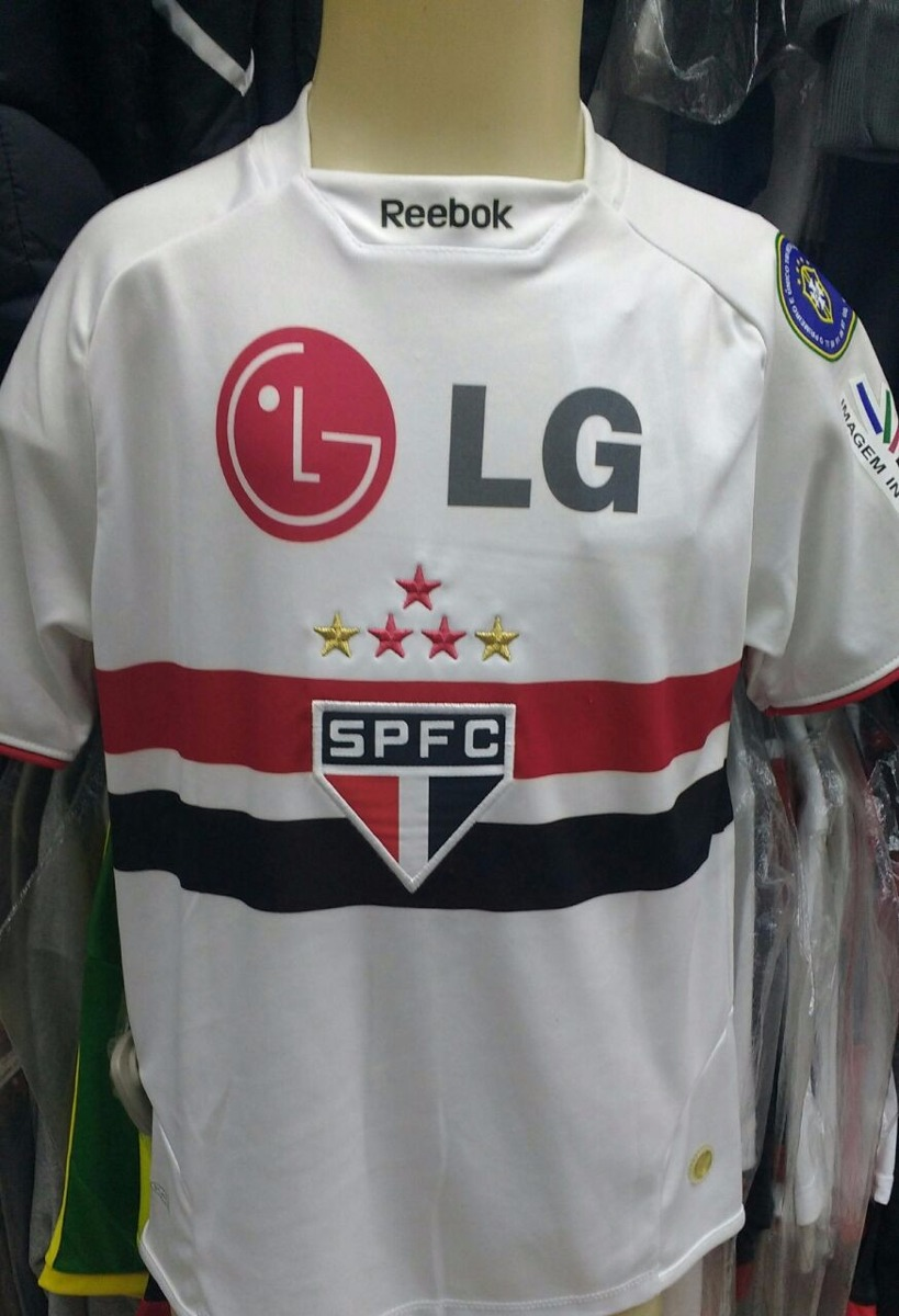 68d675cdb Camisa São Paulo Reebok Infantil / Juvenil Uniforme I - R$ 149,00 em ...