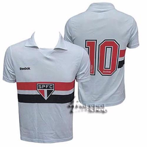 camisa são paulo reebok oficial comemorativa retrô rai # 10