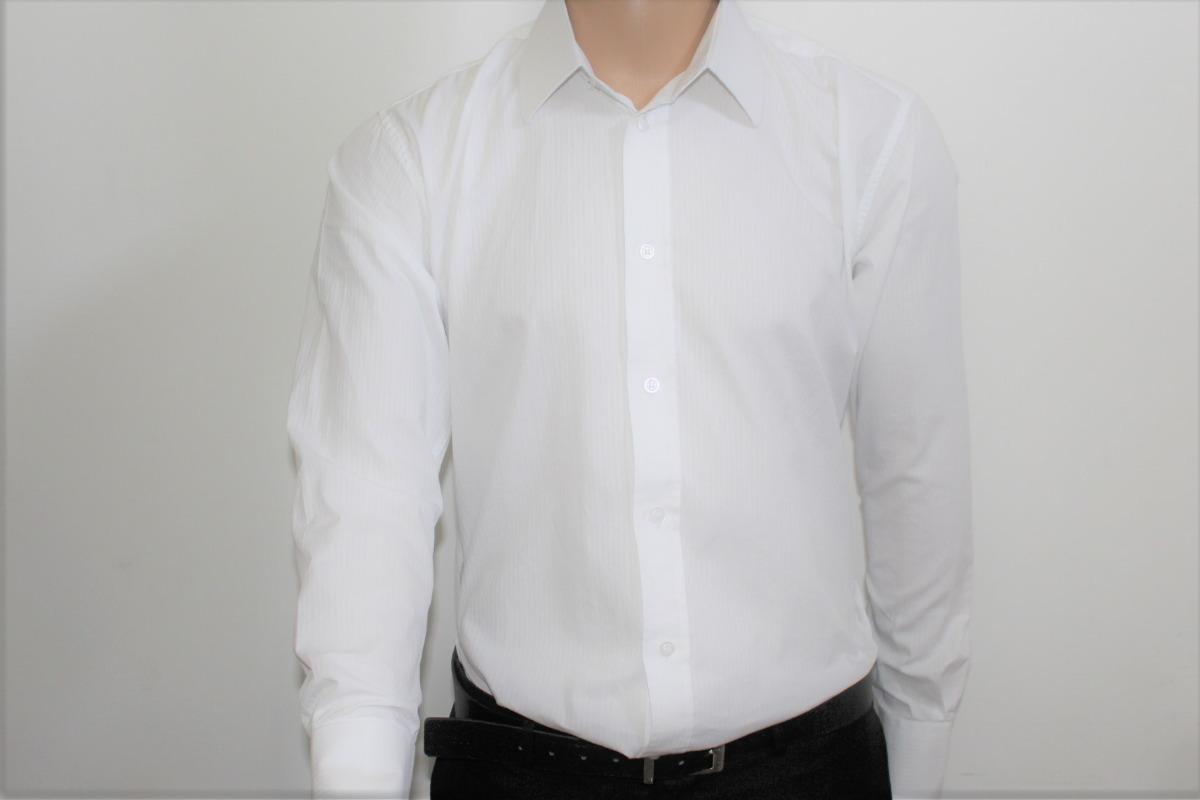 e3f6bca328 Camisa Social Branca Slim Gola Dura - R  149
