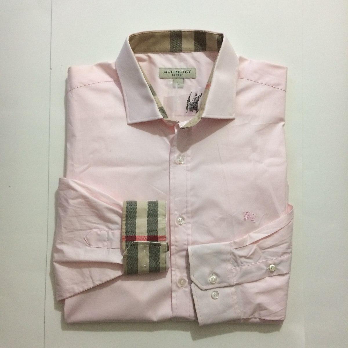 ecc3fcaf06 camisa social burberry london manga longa 100 algodão. Carregando zoom.