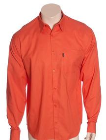 1555965a7c Camisa Longa Masculinas Laranja em Martinópolis com o Melhores ...