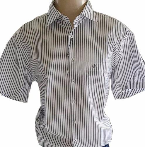 camisa social dudalina meia manga masculina original com nf