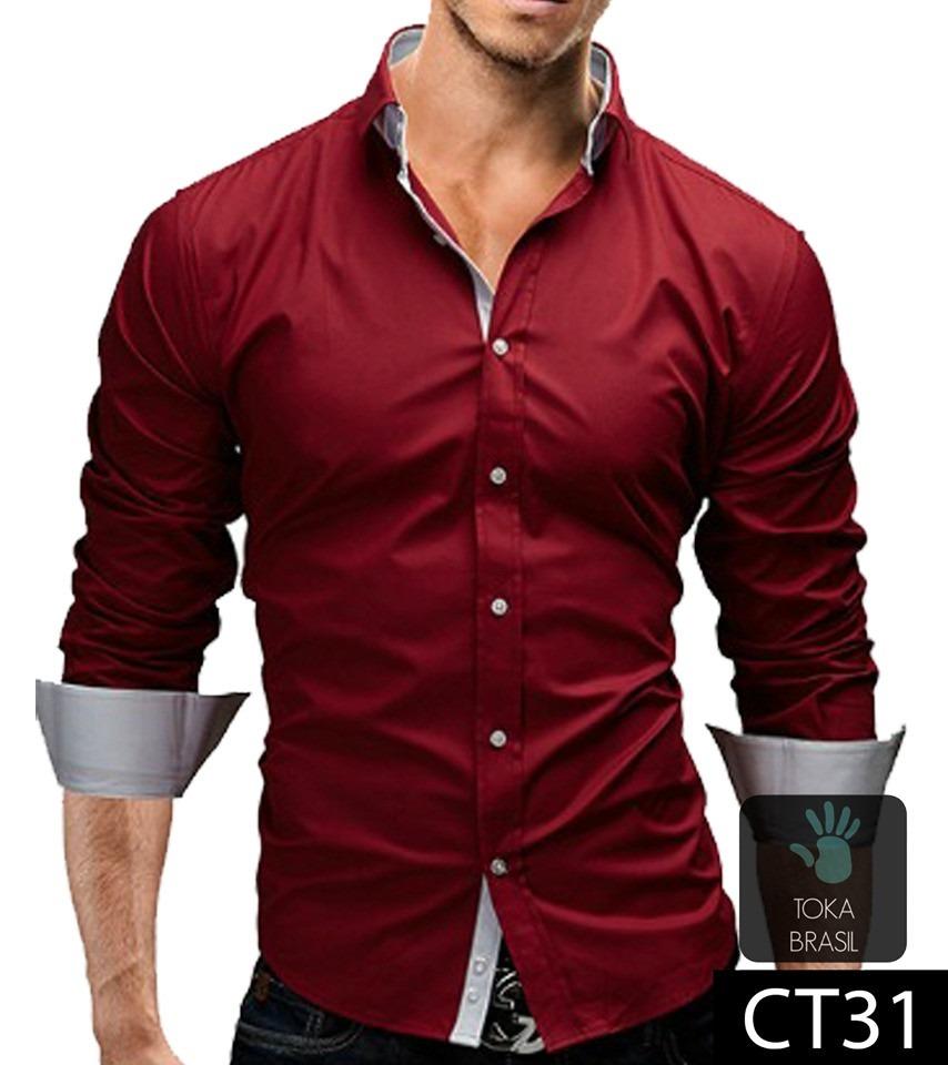 3cec4dff64 camisa social estilo europeu luxo pronta entrega slim fit. Carregando zoom.