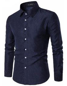 876e874a241db Camisa Social Com Bolinhas Vinho - Camisa Longa com o Melhores Preços no Mercado  Livre Brasil