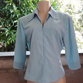 95f95aabd4 Camisa Social Com Ziper Feminina no Mercado Livre Brasil