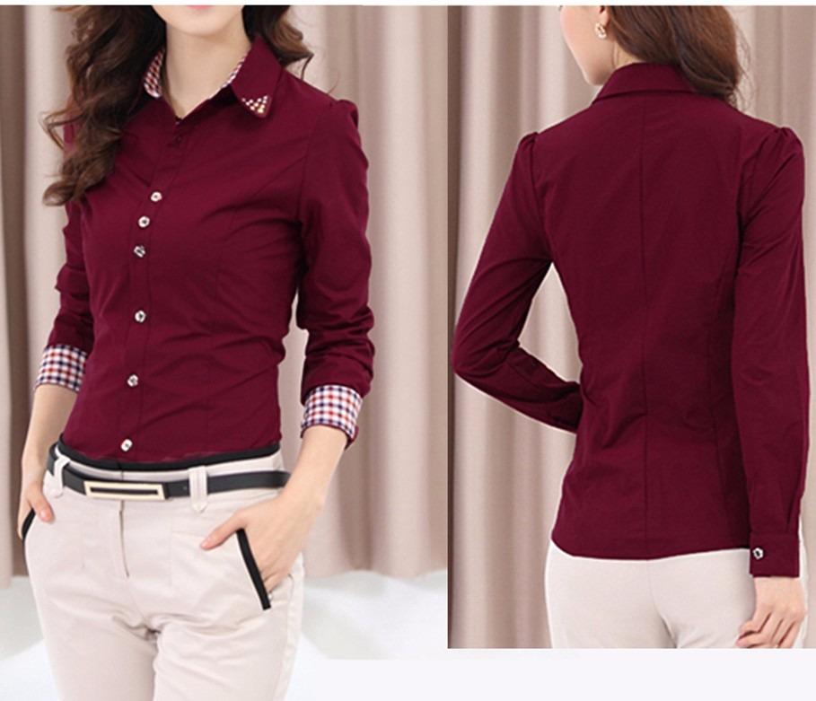 501f760ed0 camisa social feminina bordô ou branca roupas femininas. Carregando zoom.