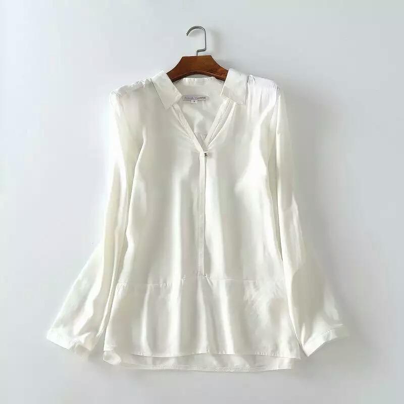e61829c1bc camisa social feminina branca crepe decote importada pronta. Carregando  zoom.