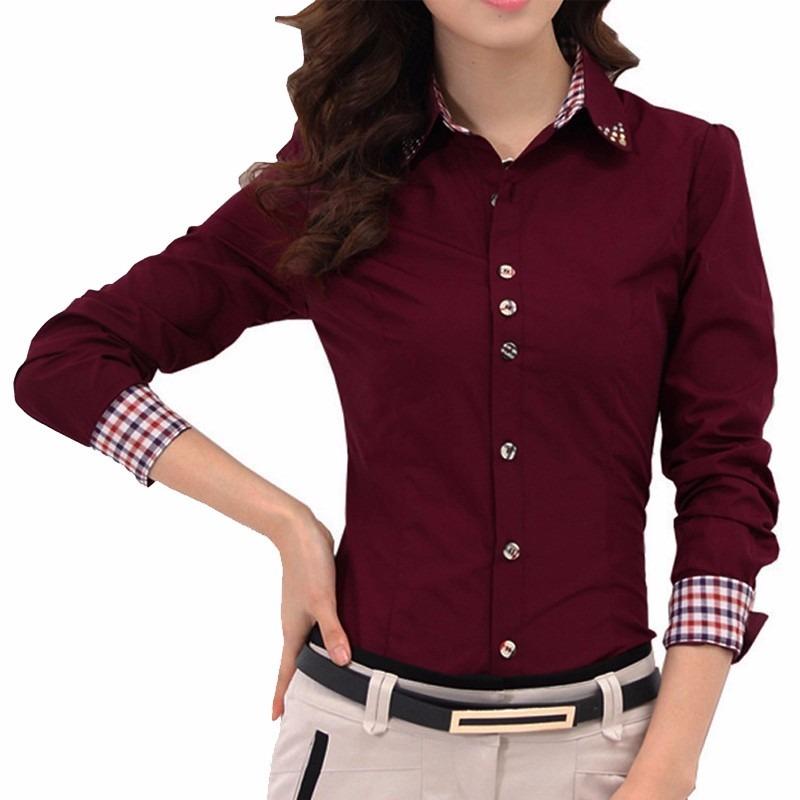 5f0b784f2f camisa social feminina branca ou bordô roupas femininas. Carregando zoom.