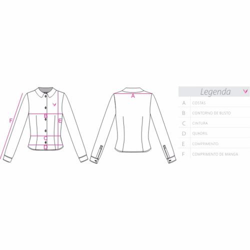 camisa social feminina - cetim c/ elastano - pimenta rosada